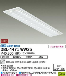 DBL-4471WW35 (ランプ別梱包) ベースライト 大光電機(DAIKO)