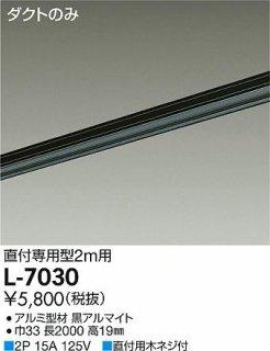 L-7030 配線ダクトレール 大光電機(DAIKO)