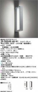 39-50049-40-91 (OP01289-70付)  屋外灯 LED マックスレイ(MAXRAY)