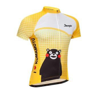 DECOJA サイクルジャージ半袖 くまモン黄色(29699)
