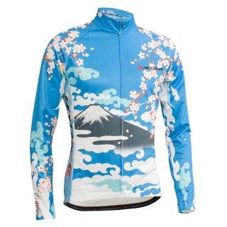 DECOJA 冬用 長袖 サイクルジャージ 桜富士(27793)
