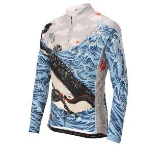 DECOJA サイクルジャージ 春夏用長袖 クジラ(30602)[送料無料] サイクルウェア 自転車ウェア サイクルジャージ