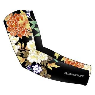 DECOJA 夏用UVアームカバー 花鳥 日本製(30250)[送料無料] サイクルウェア 自転車ウェア サイクルジャージ