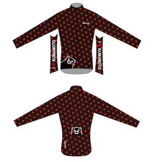 DECOJA レディース サイクルジャージ冬長袖 くまモン黒(31942)