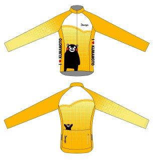 DECOJA レディース サイクルジャージ冬長袖 くまモン黄色(31940)