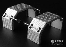 ステンレス縞板鋼板リアフェンダー1軸用