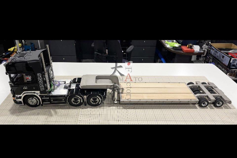 【取り寄せ】16輪スイングサス低床重トレーラー
