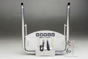 汎用 V8ステンレス製ツールBOX付き煙突マフラーキット