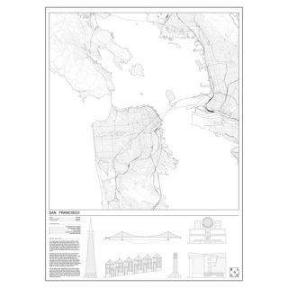 SAN FRANCISCO(サンフランシスコ/アメリカ) マップ 地図  アート ポスター   Msize - BLOCK STDO -