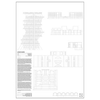 LOUIS KAHN(ルイス・I・カーン) 建築  アート ポスター  Msize - BLOCK STDO -