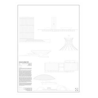OSCAR NIEMEYER(オスカー・ニーマイヤー)  建築 アート ポスター  Msize - BLOCK STDO -