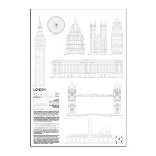 LONDON(ロンドン/イギリス) アイコン アート ポスター  Ssize - BLOCK STDO -