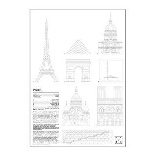 PARIS(パリ/フランス) アイコン アート ポスター  Ssize - BLOCK STDO -