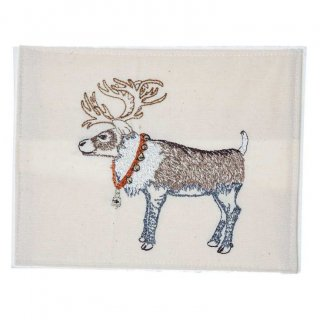 REINDEER WITH BELLS  STATIONERY 刺繍ポストカード -Coral & Tusk(コーラル&タスク)-