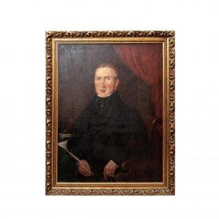 19世紀 ジェントルマン ポートレート 肖像画