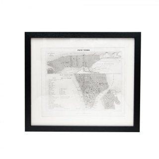 1840年代 アンティーク ニューヨーク マップ 地図