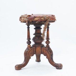 フレンチ アンティーク 木製 スツール アールデコ 家具