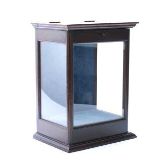 アンティーク ガラス キャビネット コレクションケース 卓上 イギリス