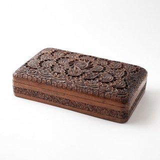1930年代 アメリカ ヴィンテージ 木製 ジュエリーボックス 収納 ケース 小物入れ