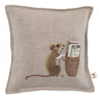 Mouse Tooth Fairy Pillow 刺繍 マウス ピロー -Coral & Tusk(コーラル&タスク)-