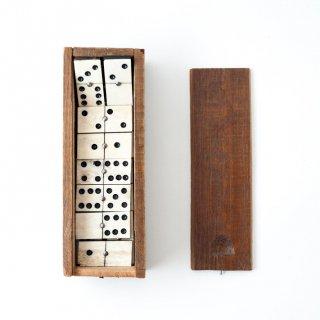 1900年代 ヴィンテージ木製 ドミノ ボックス アメリカ