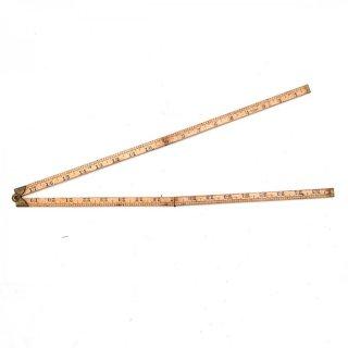 USA製 STANLEY アンティーク 折りたたみ式ルーラーC 木製/真鍮  定規(ものさし)