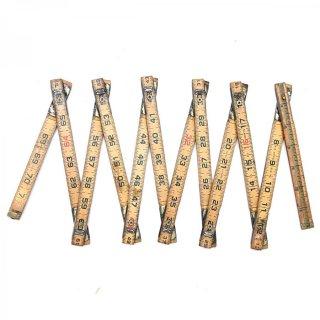 USA製 アンティーク 折りたたみ式フォールディングルーラーA 木製  定規(ものさし)