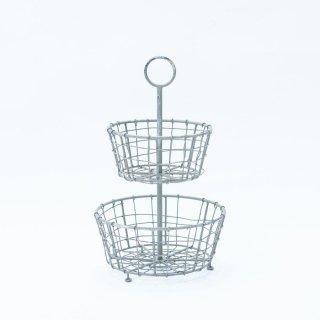 ワイヤーバスケット ヴィンテージ(フランス製)2段