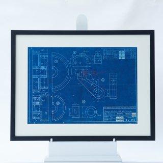 Patent Artwork  青焼き 機械製図 アメリカ ヴィンテージ