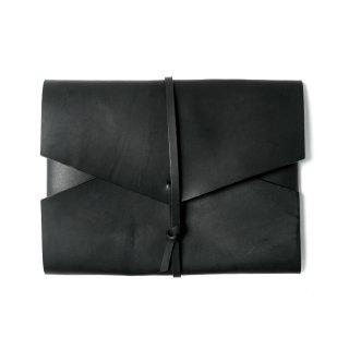 レザー ポートフォリオケース / クラッチバッグ(ブラック)  | GENERAL SUPPLY