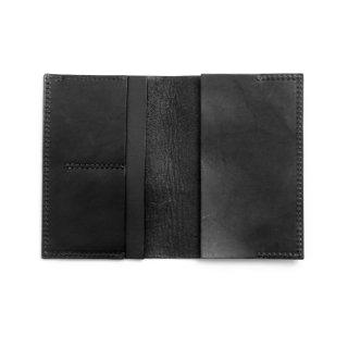 レザー パスポートケース(ブラック)    GENERAL SUPPLY
