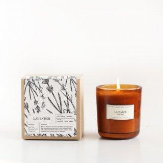 アンバーグラスキャンドル(ラベンダー | Lavender) | Brooklyn Candle Studio