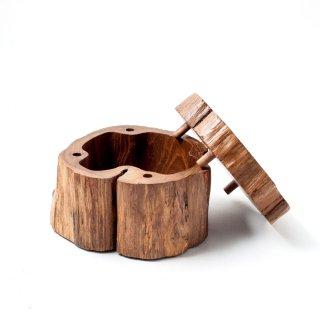 木製小物入れ Hand crafted wooden box