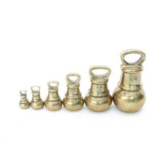 アンティーク 真鍮ウェイト(6個SET)