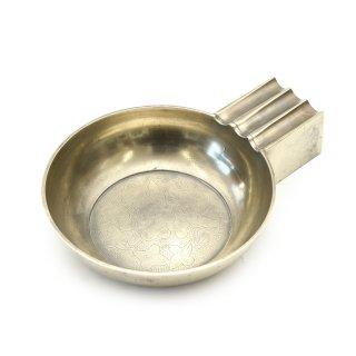 ヴィンテージ 花柄 トレイ 真鍮製 灰皿