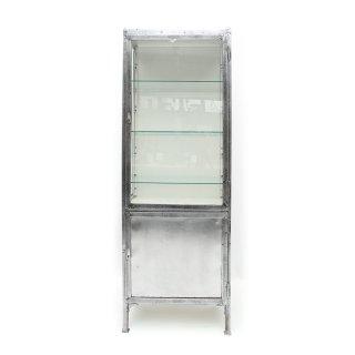 ヴィンテージ メタル ガラス キャビネット ショーケース
