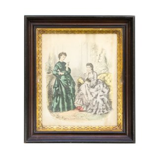 アンティーク アート(絵画) フランス レディース ファッション