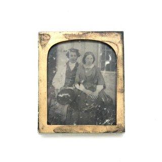 19世紀 ヴィクトリアン アンティークフォト(湿板印刷)