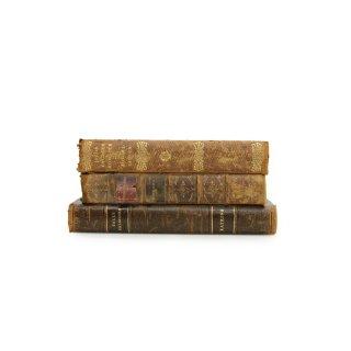アンティーク 洋書 ・ 洋古書 3冊セット レザー