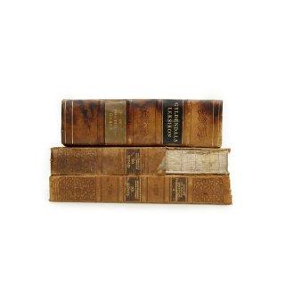 アンティーク 洋書 ・ 洋古書 3冊セット レザー 辞書
