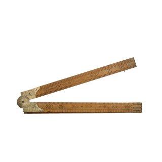 アンティーク 折りたたみ式 ルーラー 木製/真鍮  定規(ものさし)RABONE イギリス