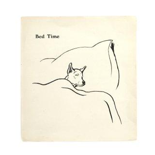 アンティーク アート Bed Time 犬