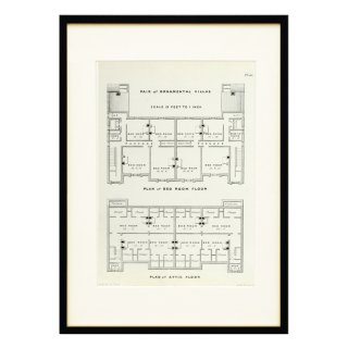 1850年代 イギリス アンティーク アート 図面 ドローイング 別荘 Plate63