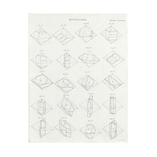 1823年 アンティーク サイエンスアート 鉱物学 図面