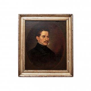 19世紀 アンティーク ジェントルマン ポートレート 肖像画