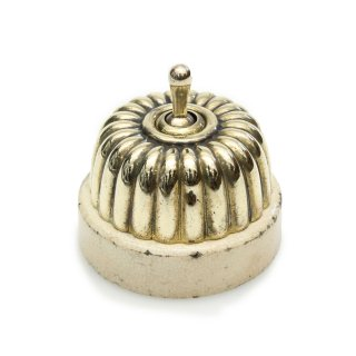 アンティーク トグル スイッチ 白磁 真鍮 カバー イギリス A