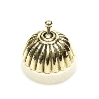 アンティーク トグル スイッチ 白磁 真鍮 カバー イギリス B