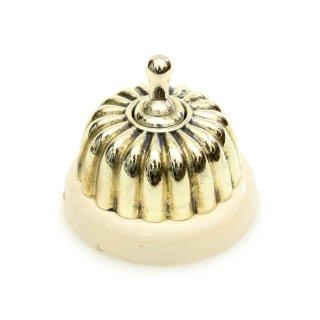アンティーク トグル スイッチ 白磁 真鍮 カバー イギリス D