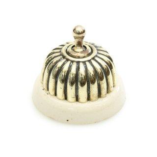 アンティーク トグル スイッチ 白磁 真鍮 カバー イギリス F