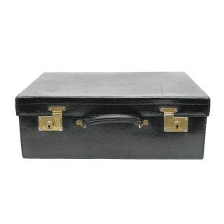 ヴィンテージ ブラック レザー スーツケース トランク